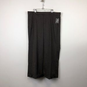 NWT Gap Brown Striped Stretch Ankle Trouser SPants